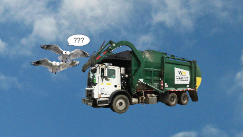What has wheels and flies? A garbage truck!