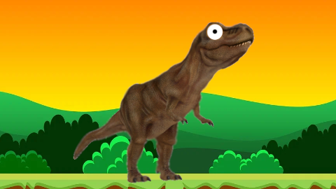 What should you do if you find a dinosaur in your bed? Run away and sleep somewhere else!