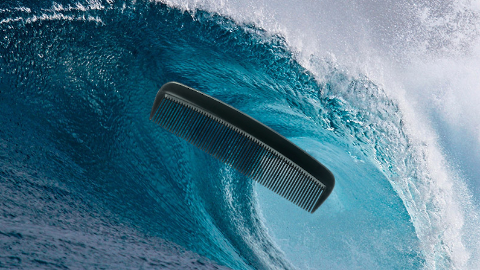 Why does the ocean always carry a comb? Because its hair is so wavy!